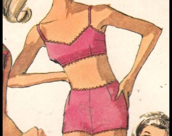 Simplicity 6546  Misses' Beach Shift And Two piece Bathing Suit  Size 14   Bust 34""