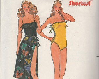 Butterick 6574 Misses' Swimsuit & Skirt Size 10