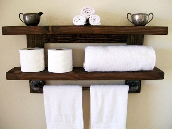 Floating Shelves Bathroom Shelf Towel Rack Floating Shelf Wall | Etsy