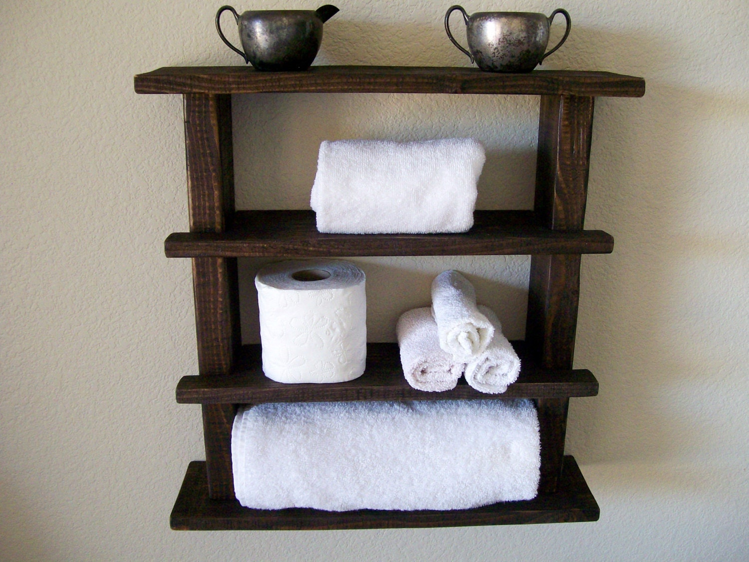 Rustic Bathroom Shelves Towel Rack Wood Shelf Bathroom