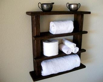 floating shelves for bathroom wall