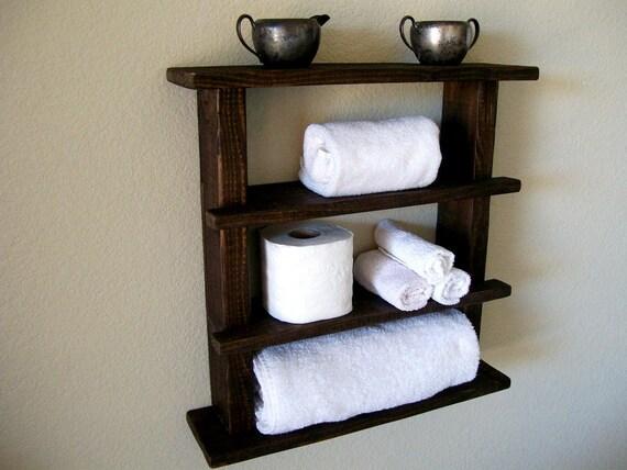 Bois tablettes salle de bain salle de bain ETAGERE rustique clayettes