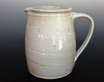 handmade pitcher, jug, white pitcher, carafe, water pitcher, ceramic jug, ceramic pitcher, pottery jug