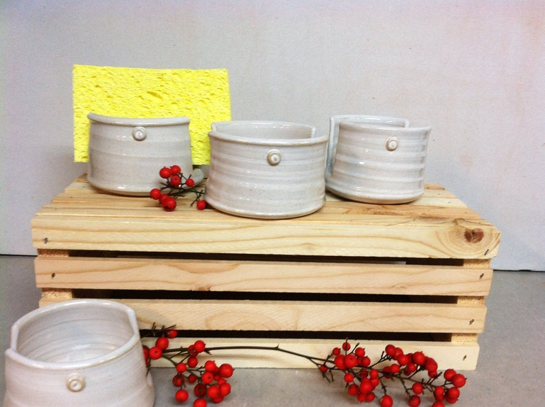 napkin holder handmade sponge holder ceramic sponge holder letter holder white sponge holder kitchen sponge holder