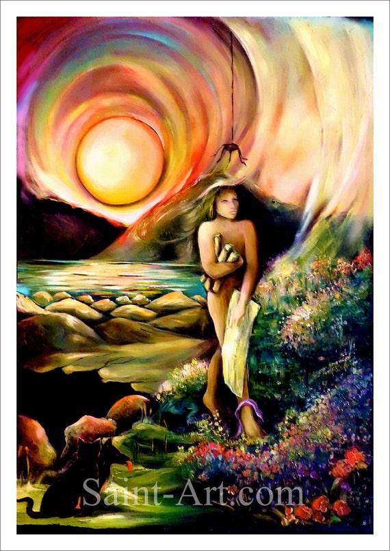 Karta Tarota Sztuki Duchowe Sztuki Fantasy Sztuki 22 Etsy