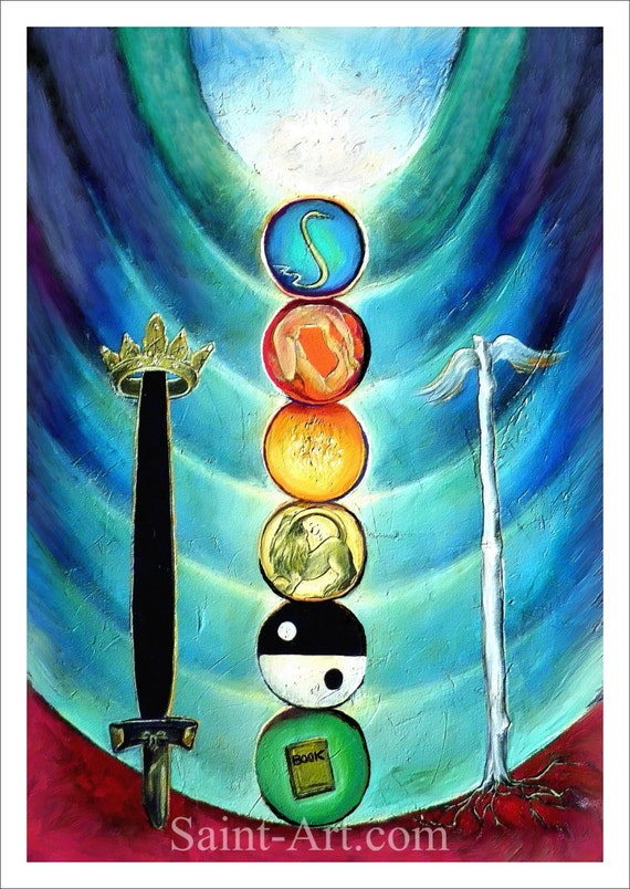 Karta Tarota Tarot Sztuka Drukowania Duchowe Sztuki 16 Kart Etsy