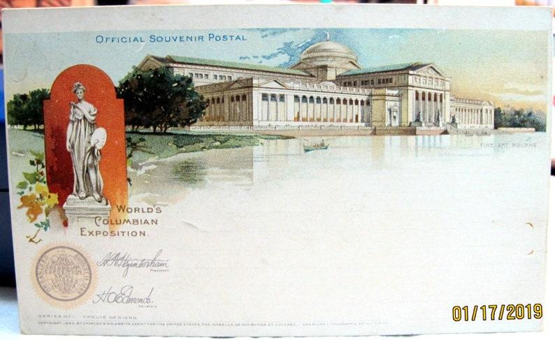 1893 World's Columbian Exposition Goldsmith Pub  Series #1, Fine Art Bldg