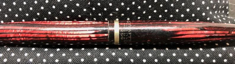 Flat Ball Clip Excellent Free Postage USA GF Trim Sheaffer #250 Burgundy Red Stripe