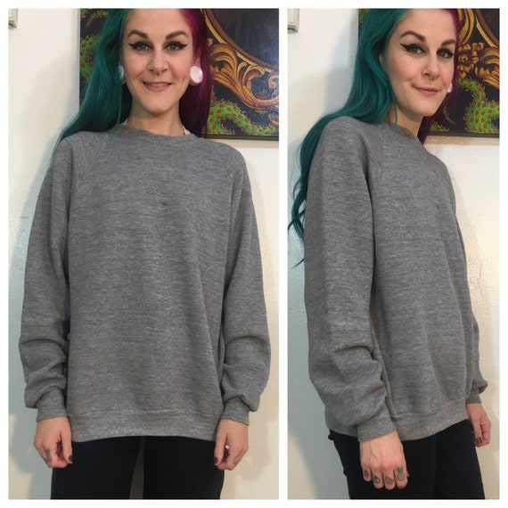 Vintage 1980's Grey Jerzees Sweatshirt