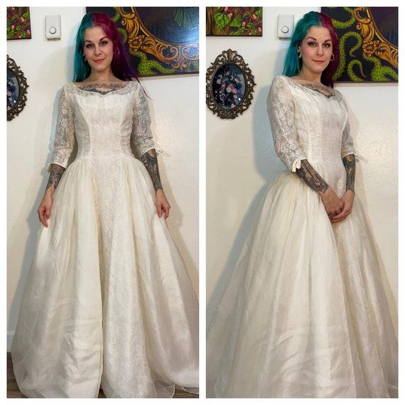 Vintage 1960's Emma Domb Wedding Dress