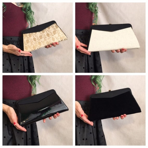 Vintage 1950's Changeable Cover Clutch