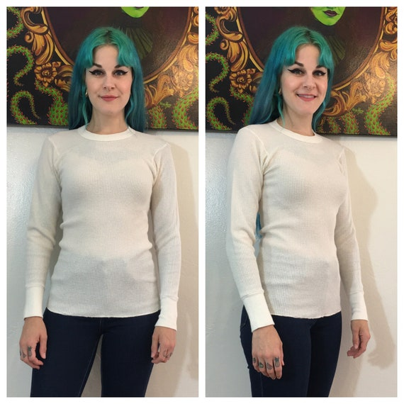 Vintage 1960's Hanes Thermal Small