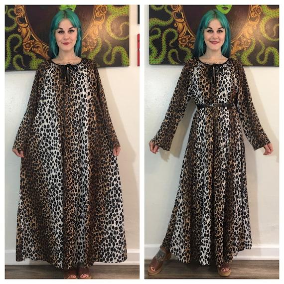 Vintage 1970's Leopard Print Nightgown