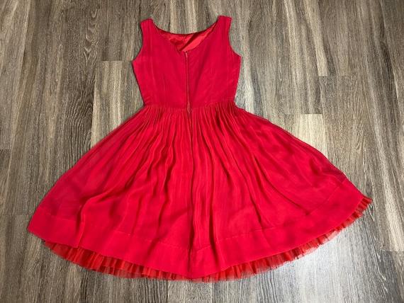Vintage 1950's Pink Chiffon Dress - image 4