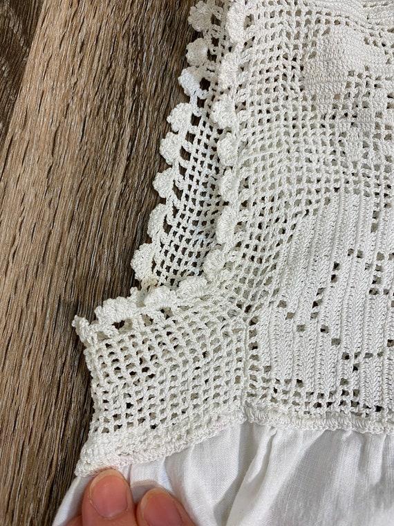 Antique 1910's Crochet Undergarment Blouse - image 6