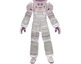 Nostromo Spacesuit Alien (8x10, 11x17, or 13x19) Movie Aliens