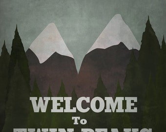 Welcome to Twin Peaks  (8x10, 11x17, or 13x19) TV Poster Print