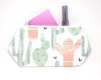Cactus Zipper Pouch, Cactus Toiletry Bag, Cactus Print, Cactus Makeup Bag, Cactus Tote Bag, Business Card Holder, Succulent Print