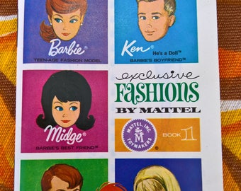 Vintage 1963 Barbie Exclusive Fashions by Mattel Booklet