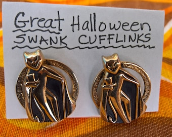 Vintage Swank Devil Costume Cuff Links