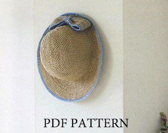 PDF download crochet summer sun hat Pattern