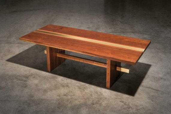 Dequindre Dining Table Solid, walnut dining room table