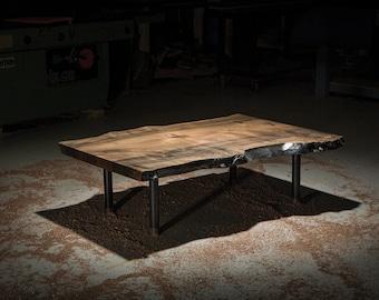 Live Edge Coffee Table, Randolph Coffee Table, Live edge coffee table, Maple Slab