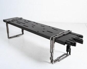 industrial bench, Beaubien Bench, handcrafted modern bench