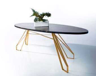 Mid century Style Oval Coffee Table