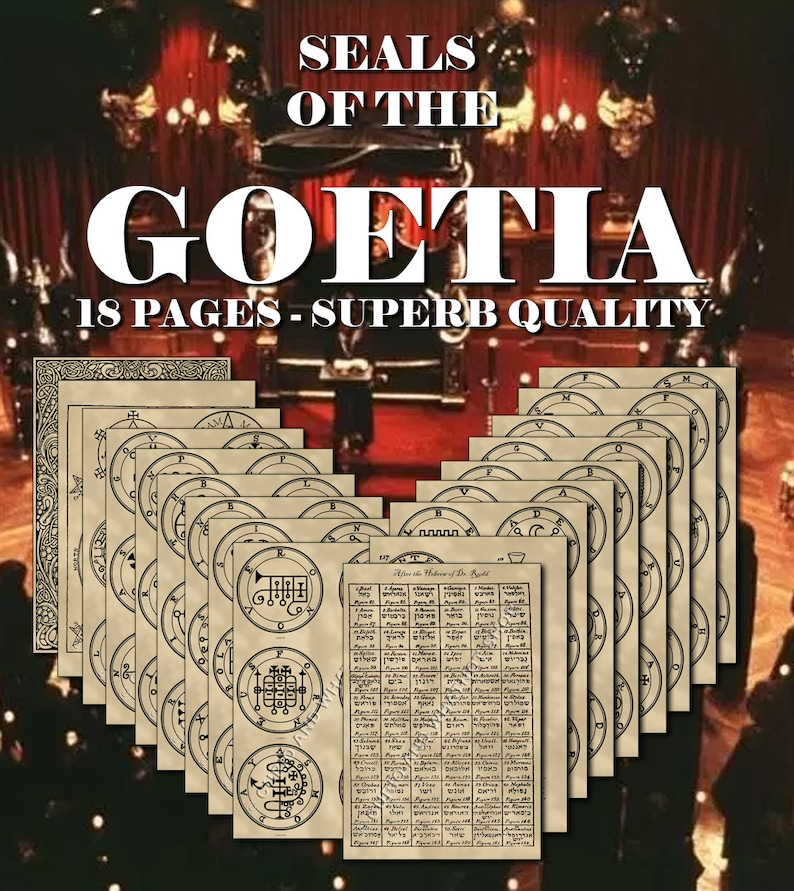 Seals of the Spirits from the Goetia, highest quality, printed on parchment  GKOS