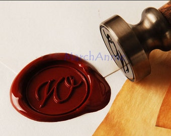 Alphabets Wax Seal Stamp - Calligraphic initial seal - Wax seal stamp A - Z