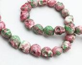1 Full Strand 13x10mm Howlite Skull Beads ,Gothic Skull Sugar,Wholesale Beads