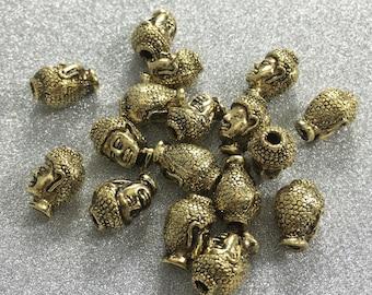 20PCS antique gold buddha bead  buddha bracelet happy buddha  yoga beads  ( C175 )