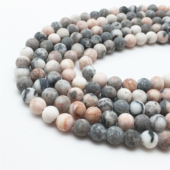 "6mm 8mm 10mm Full 15.5/"" Gemstone Beads Matte Artistic Jasper Beads"