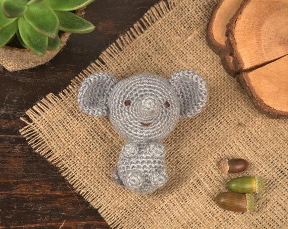 Yellow Crochet Baby ELEPHANT Crib Mobile Hanging / Decoration ...   453x570