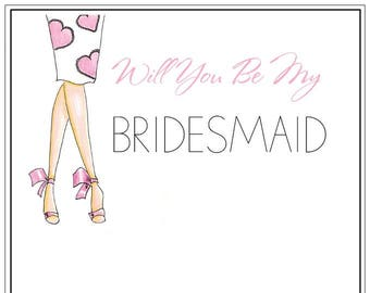 Will You Be My Bridesmaid | Wedding | Maid Of Honor | Notecards | Stationery | Allie Nicole