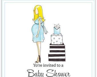 Baby Boy Blue | Baby Shower | Maternity | Invitations | Notecards | Stationery | Allie Nicole