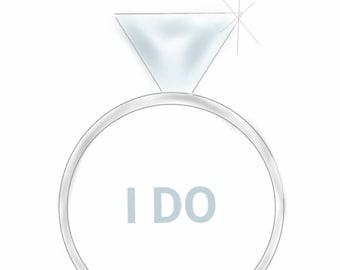 I Do | Wedding | Bride  | Notecards | Stationery | Allie Nicole