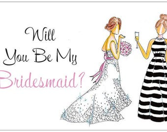 Will You Be My Bridesmaid | Wedding | Bridesmaid | Notecards | Stationery | Allie Nicole