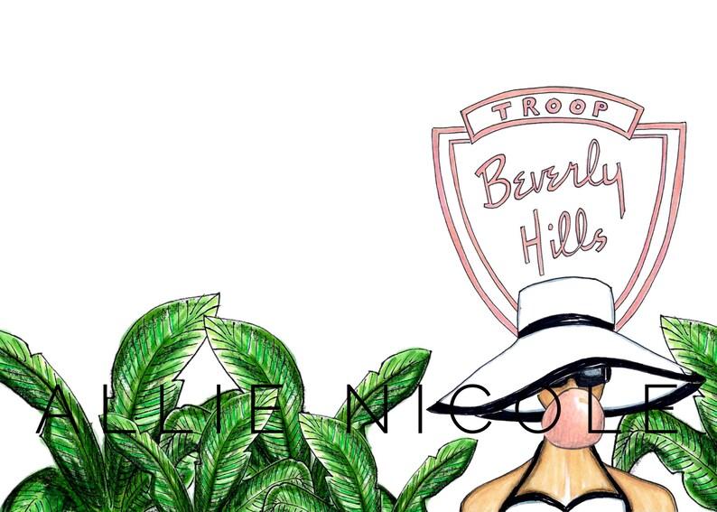 Bubblegum Babe Bachelorette Party 5x7 Notecard Set Beverly Hills Allie Nicole Poolside Palm Springs Resort Honeymoon
