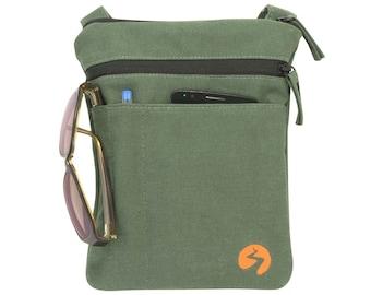 Small iPad Mini Shoulder Bag | Phone Case, Canvas Bag, Crossbody Bag, Sling Bag, Camera Bag, Essentials Bag - HEAVY DUTY - 1 Year Warranty