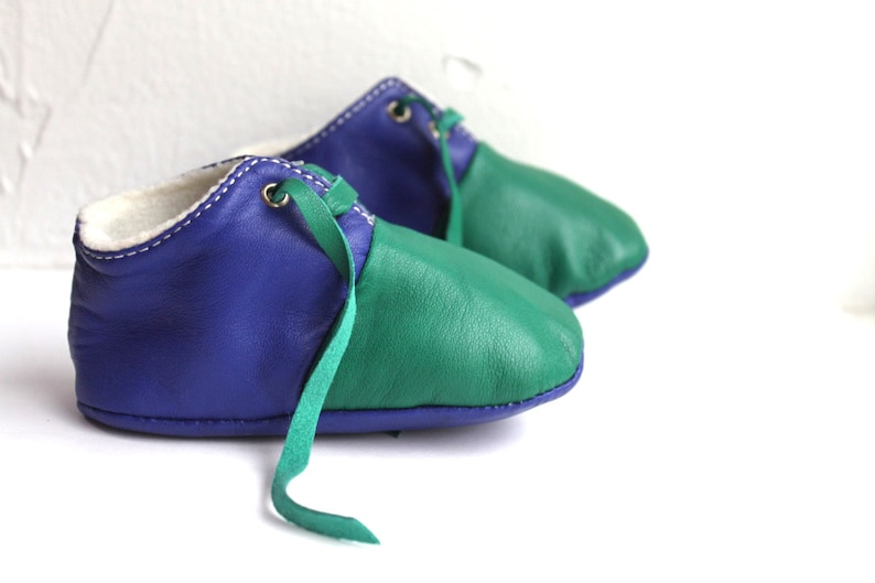 12-18 Months Slippers / Baby Shoes Lamb Leather Owo Shoes image 0