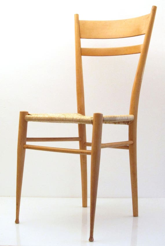 Gio Ponti Style Wooden Chairs 50s Vintage Castiglioni | Etsy