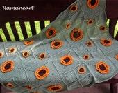Crochet Sunflowers Baby Blanket Crochet Baby Crib Blanket Granny Square Crochet Blanket Baby Afghan