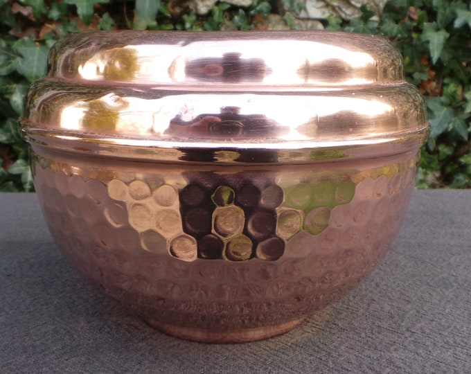 Cache Pot Art Deco Style Fine Copper Flower Bowl Copper Pot Planter Jugendstil Copper Bowl Jardiniere Fully Marked Villedieu Dents