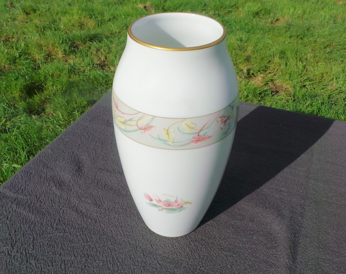 Limoges Vase Naiade Pattern Vase Polychrome Hand Finished Vintage French Vintage Jammet Seignolles Limoges Faience Pottery China Porcelain