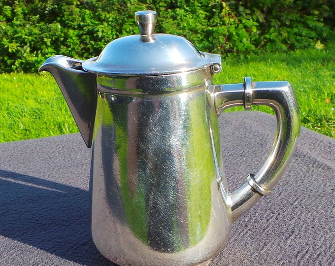 WMF WARTTEMBERGISCHE METALWARENFABRIK German Coffee Pot 07281 EP12 Cromargen Germany 1903-1920 Marked Steigneberger Hotels Tea Pot Milk Pot