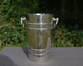 French Silver Plated Champagne Bucket or Wine Cooler Made by Alexandre Gelb of Paris Maker's Mark Ideal For One Bottle Seau de Champagne
