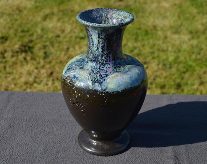 Morvan Vase 1960's 1970's Lava Fully Marked Sticker Trending Retro Style Morvan Art Vase