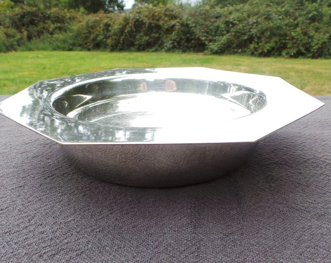 Vintage French Silver Plate Dish Warmer with Plug Bowl Beautiful Design Super Table French Bowl Silver Plated Baby Bowl No Marks